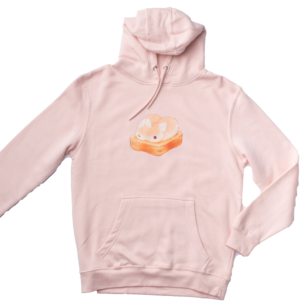 Heathersketcheroos: Toasty Buns Adult Hoodie Pale Pink
