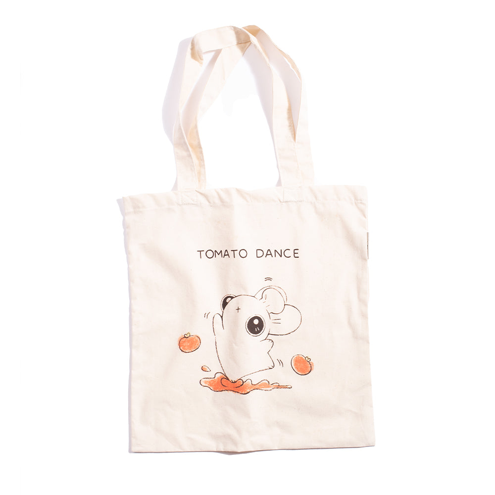 Heathersketcheroos: Tomato Dance Tote Natural