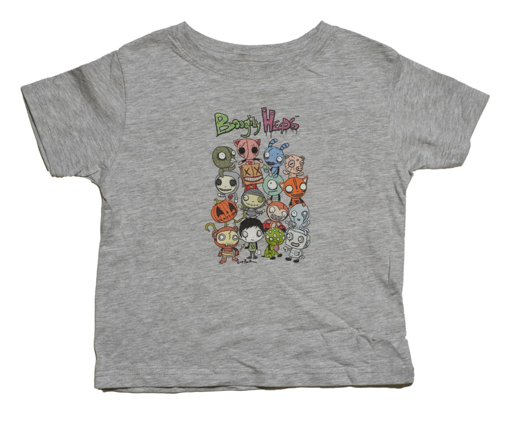 Boogily Heads Group Shot tee-heather grey