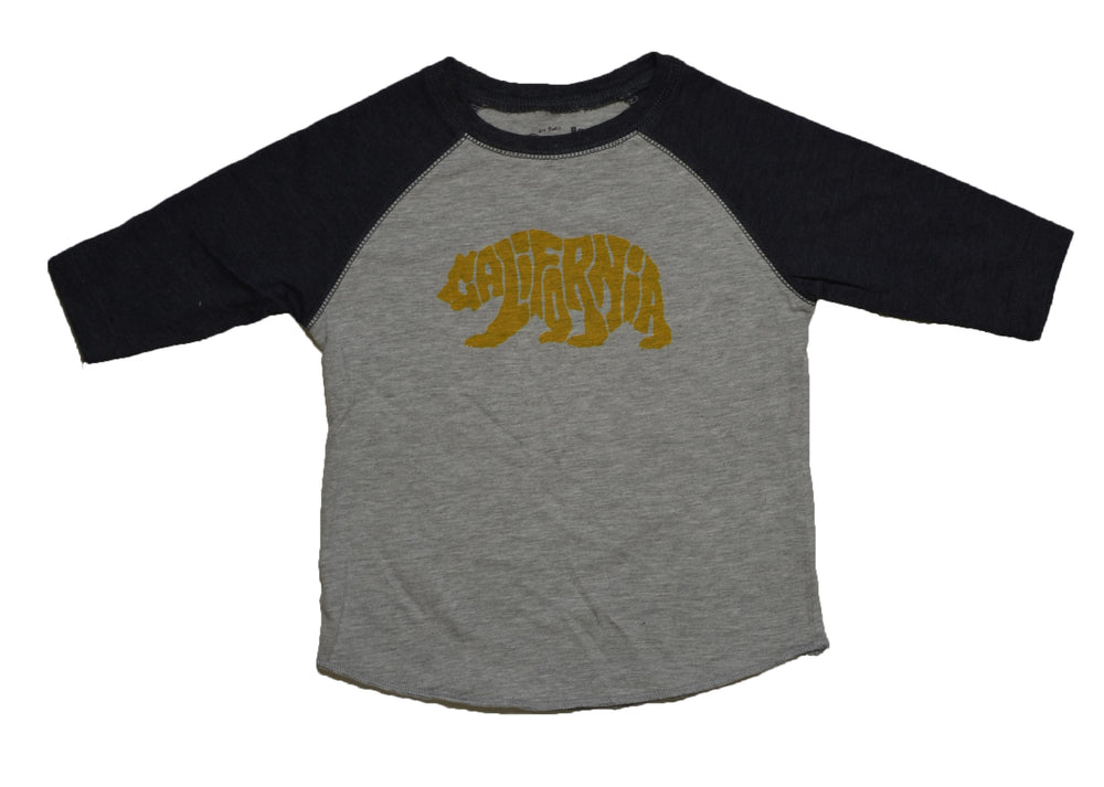 DC Cali Bear Raglan Tee heather/smoke