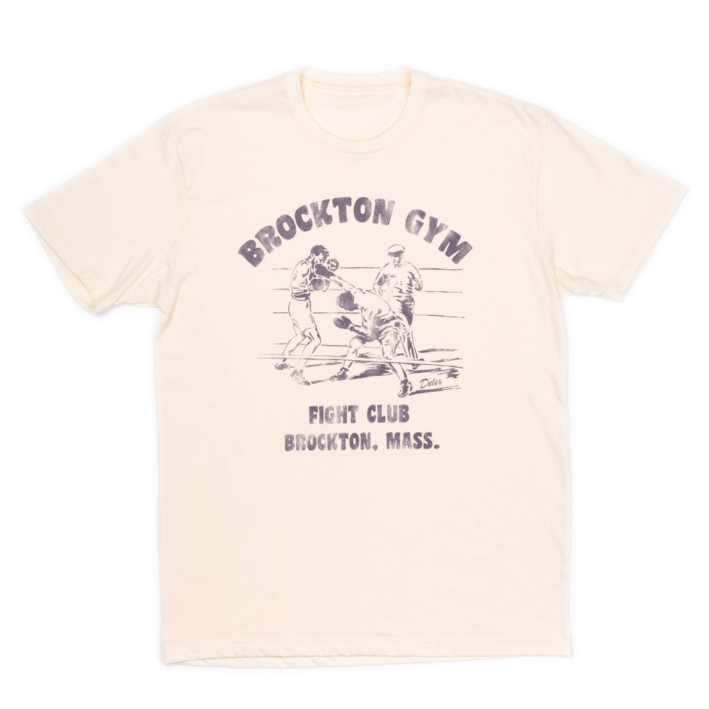 Deter- Brockton Gym Unisex Tee Natural