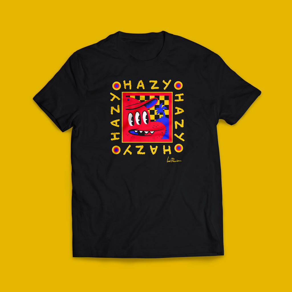 Levitzo- Hazy black short sleeve adult tee