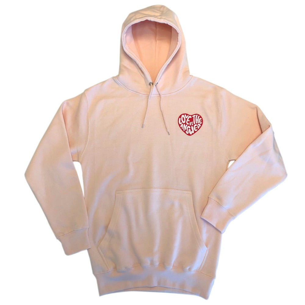 Dweegz: Love Is The Answer Pink Adult Hoodie