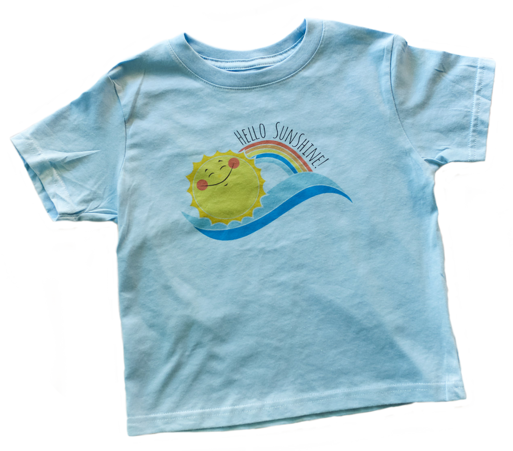 JP Hello Sunshine Tee Light Blue