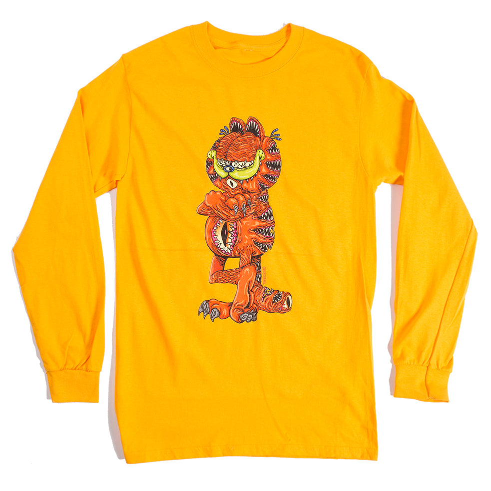 Rob Israel : Just Ggggarfield Long Sleeve Tee Yellow