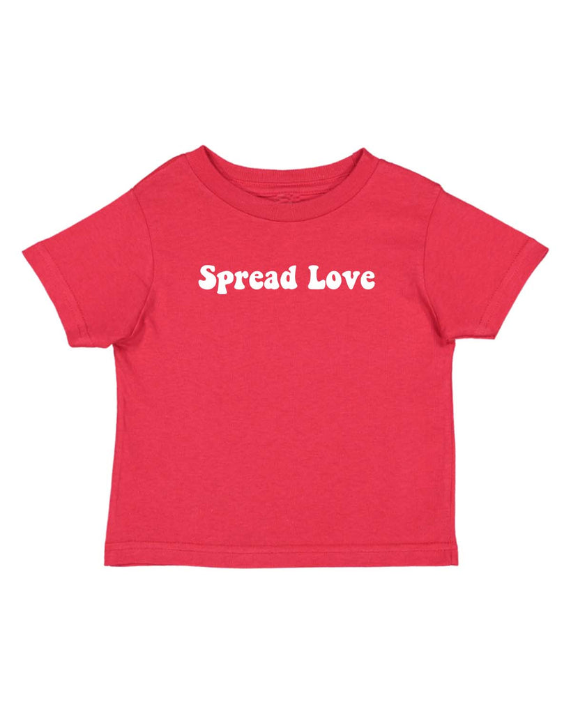Dweegz: Spread Love Toddler Tee Red