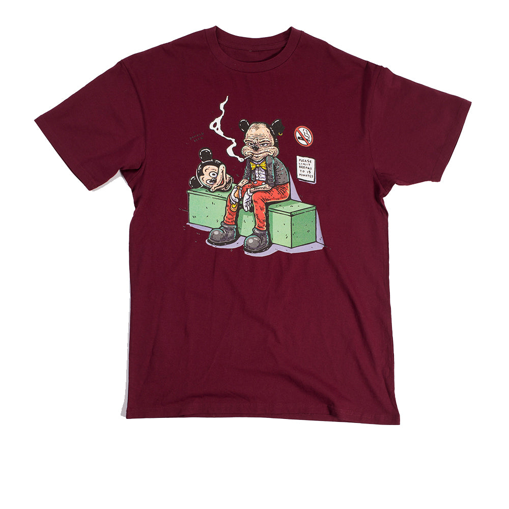 Washbeast : Smoke Break Adult Tee Maroon