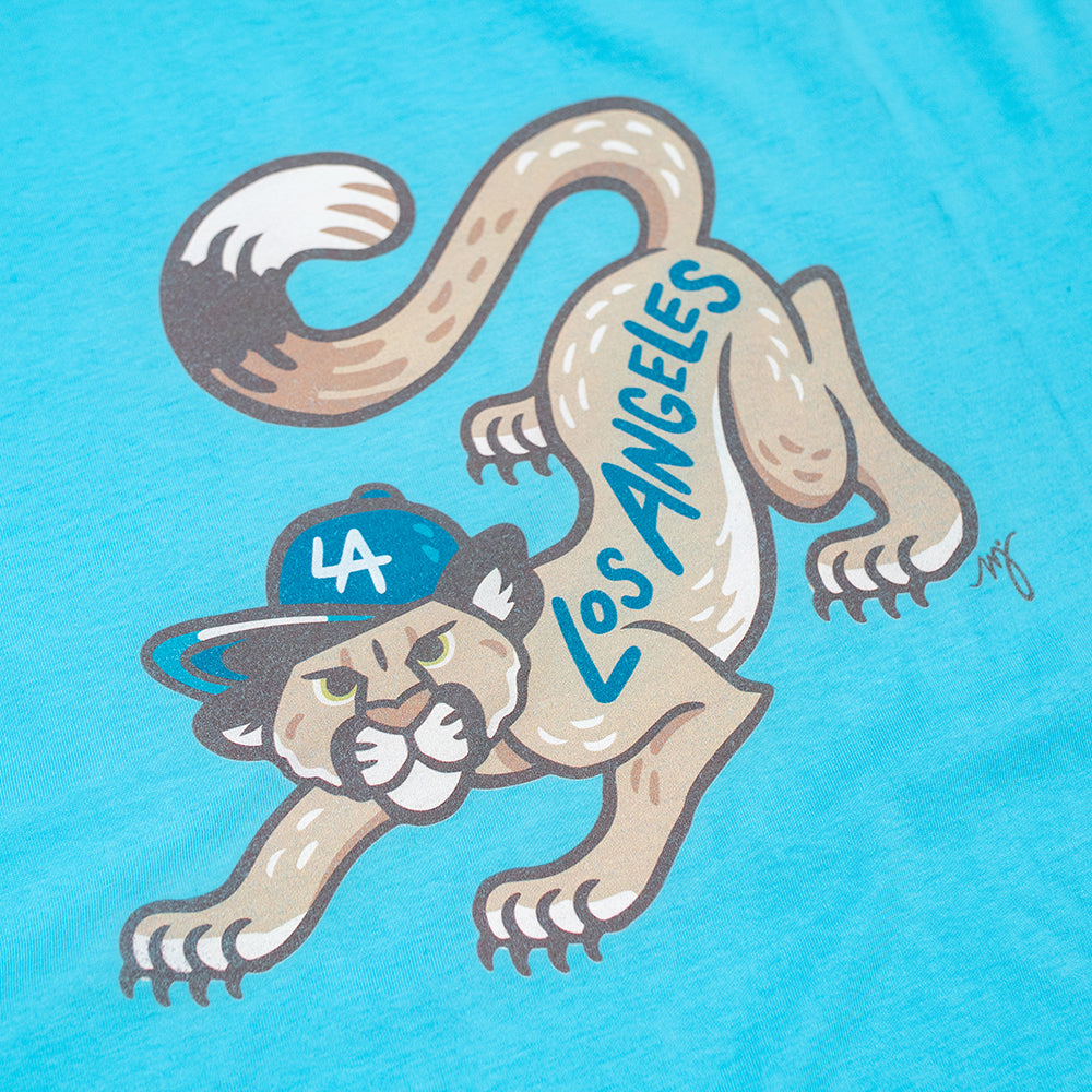 MD Mountain Lion mens blue tee