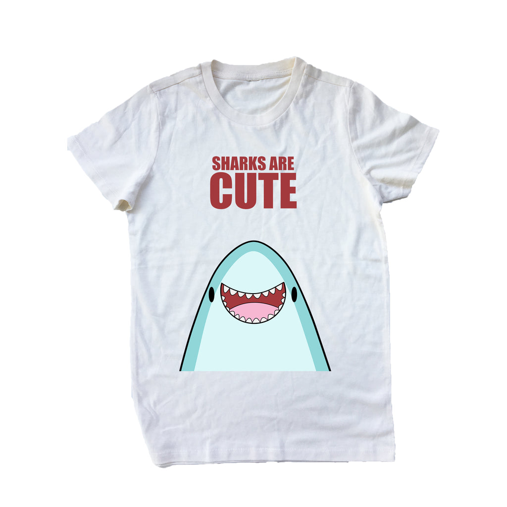 Nekoama- Cute Jaws womens natural short sleeve tee