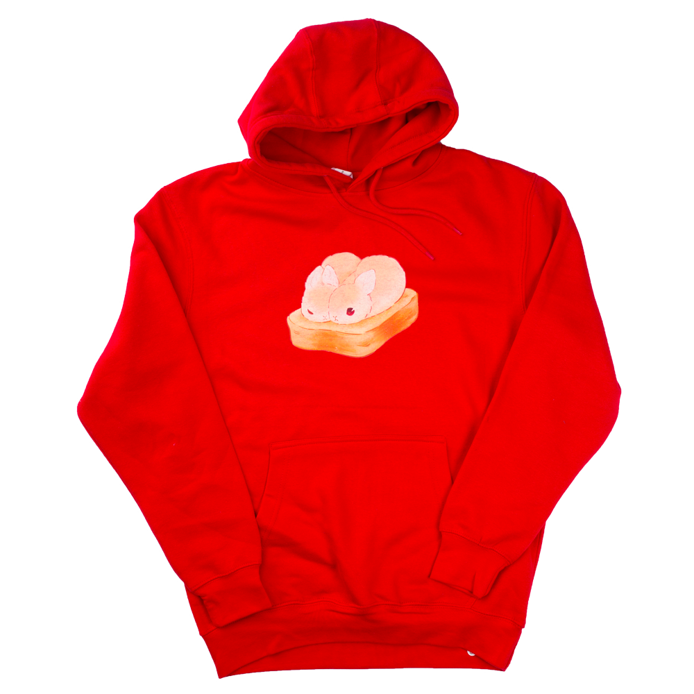 Heathersketcheroos: Toasty Buns Adult Hoodie Red