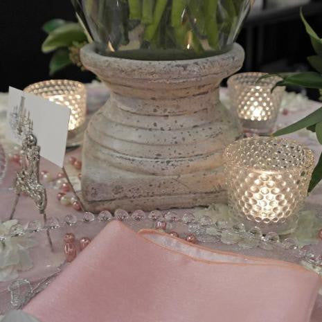 Clear Hobnail Votives (4)