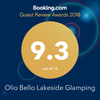 Olio Bello Rates 9.3 on Booking.com for Lakeside Glamping