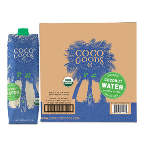 100% Organic Coconut Water 33.8 fl. oz (Pack of 6)