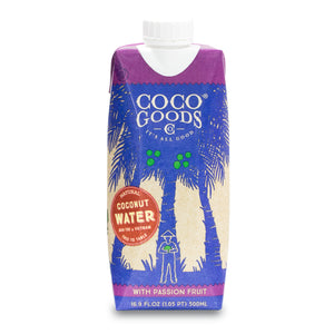 Natural Coconut Water with Freshly Squeezed Passion Fruit Juice 16.9 fl. oz (Pack of 12)