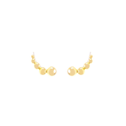 Dahna Ear Climbers Brass