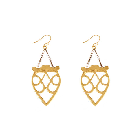 Jya Earrings Brass
