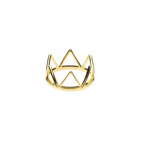 Trikona Ring Large, Brass