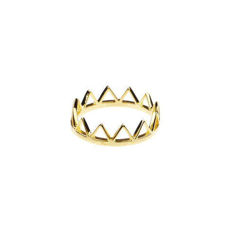 Trikona Ring Brass