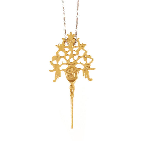 Tara Spike Necklace Brass