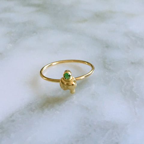 Emerald Nugget Ring