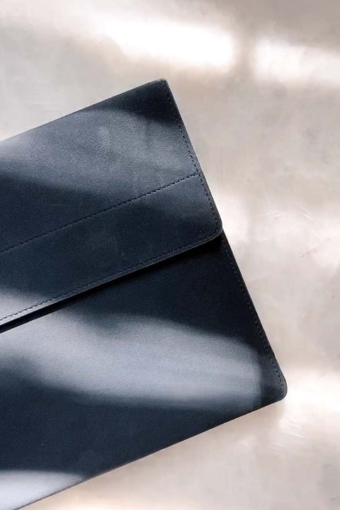 BLACK Faux Suede Laptop Sleeve