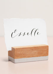 Beech Rectangle Placecard Holders (8)
