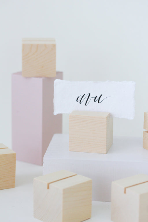 Cedar Cube Placecard Holders (6) - More Colors