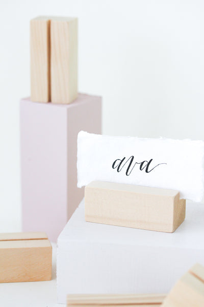 Cedar Rectangle Placecard Holders (8)
