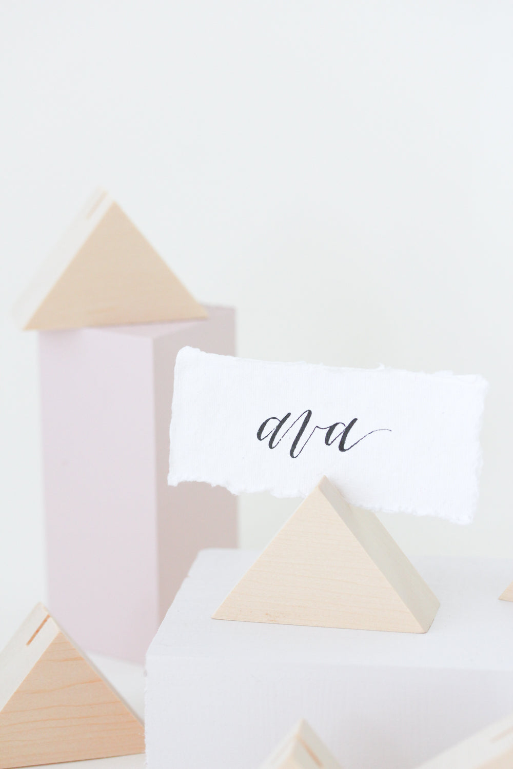 Cedar Triangle Place Card Holders (6) - more colors