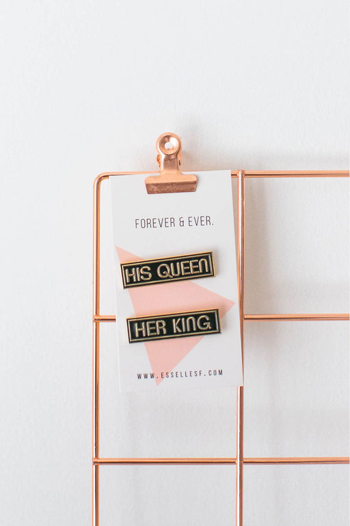 His Queen & Her King Soft Enamel Pin Set
