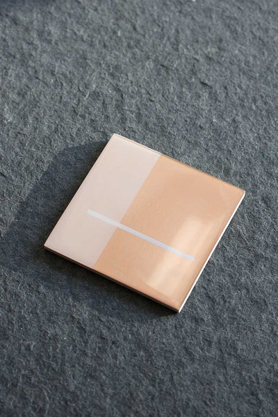 Foiled Resin Coaster Set - Geo Rose Gold