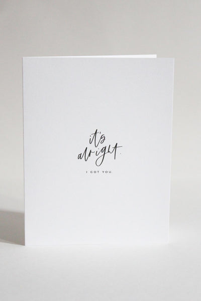 'It's Alright' Card