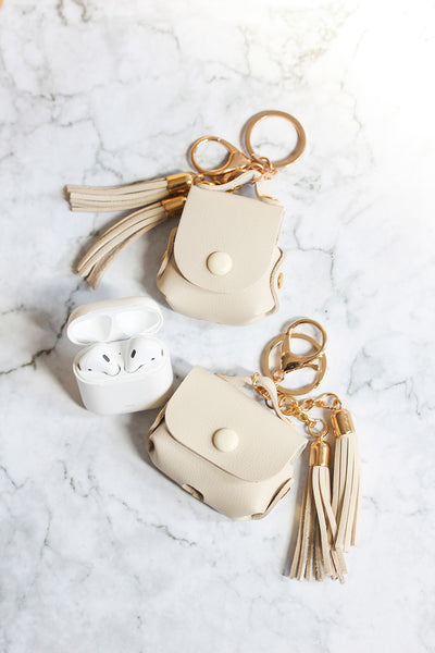 Cream Tassel Airpods Cases