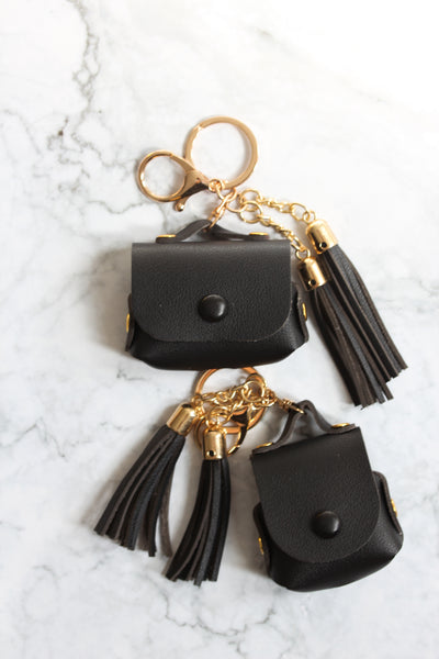 Black Tassel Airpods Cases