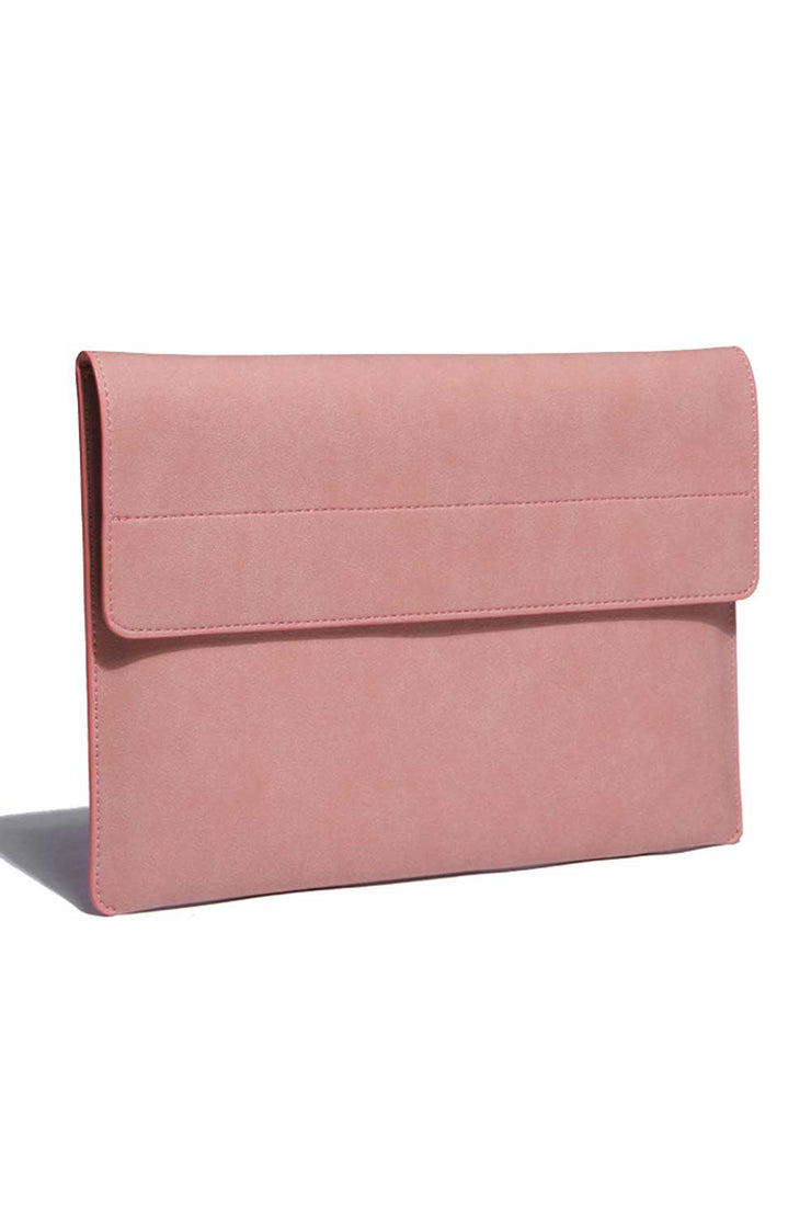 PINK Faux Suede Laptop Sleeve