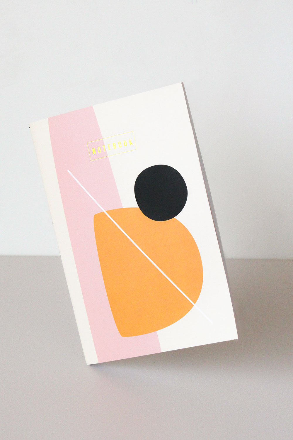 A5 Foiled Orange Abstract Softcover Notebook