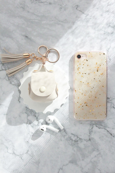 iPhone Case & AirPods Case Bundle - Cream