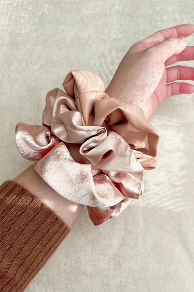 Pink Scrunchies Bundle (3)