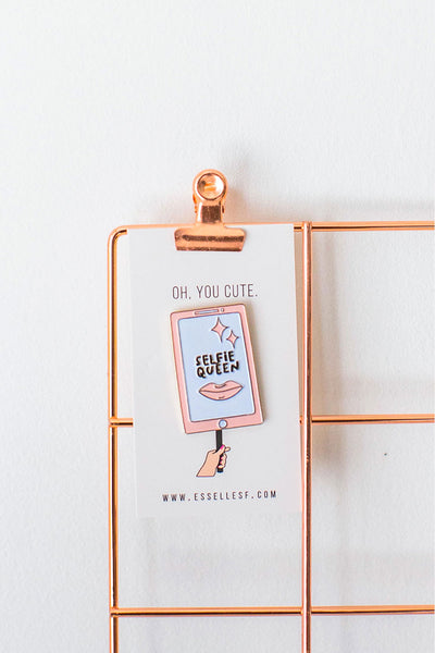 'Oh, You Cute' Selfie Soft Enamel Pin