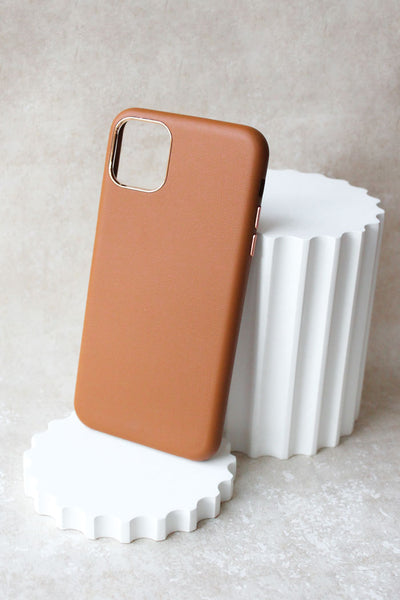 NEW! Vegan Leather iPhone 11 Case - Tan