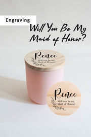 Will You Be My Maid of Honor? | *Add-on Engraving For Candle Lid
