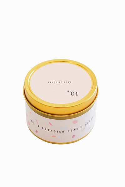 No. 4 Brandied Pear Travel Candle
