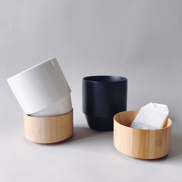 NEW! Stackable Stoneware & Bamboo Mug