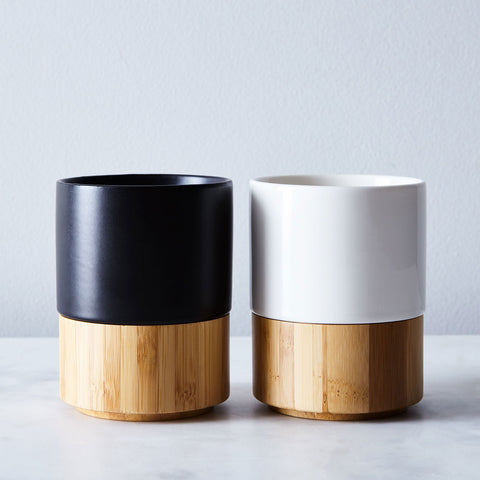 'SECOND' Magnetic Stoneware & Bamboo Mug