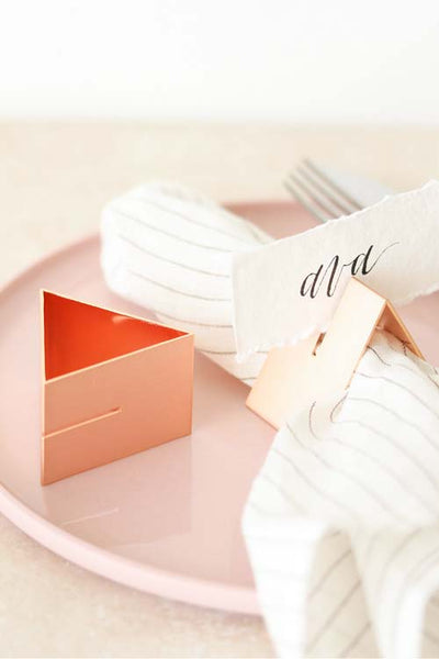 Multi-use Triangle Rose Gold Napkin Ring