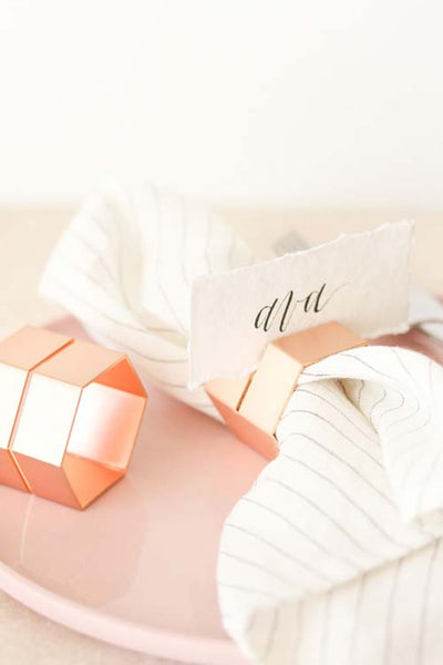 Multi-use Hexagon Rose Gold Napkin Ring