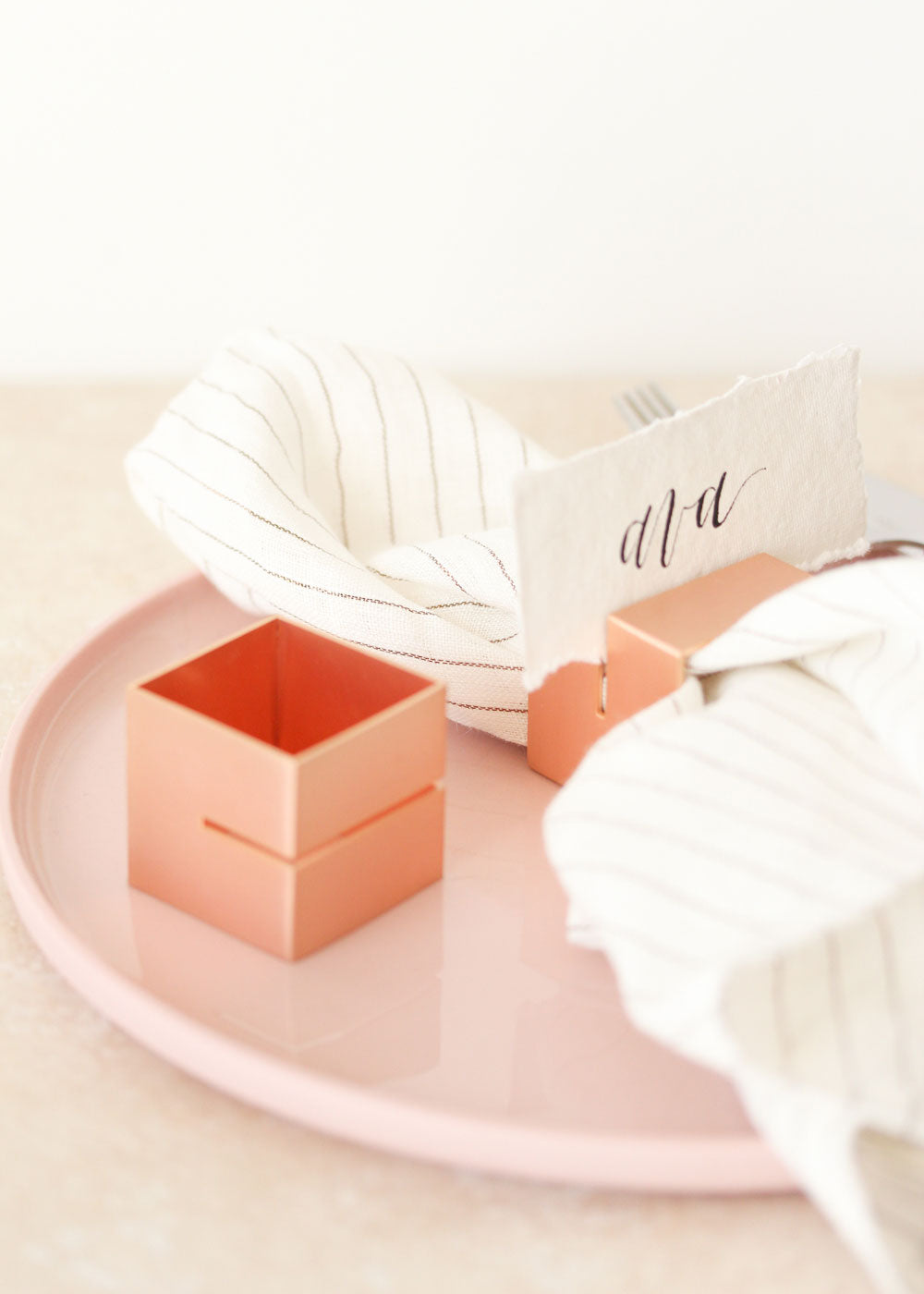 Multi-use Cube Rose Gold Napkin Ring