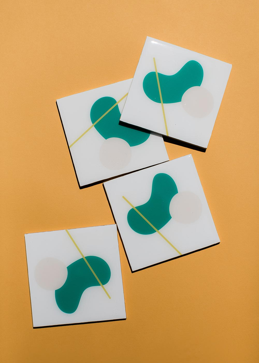 Pre-order Only - Abstract Resin Coaster - Green