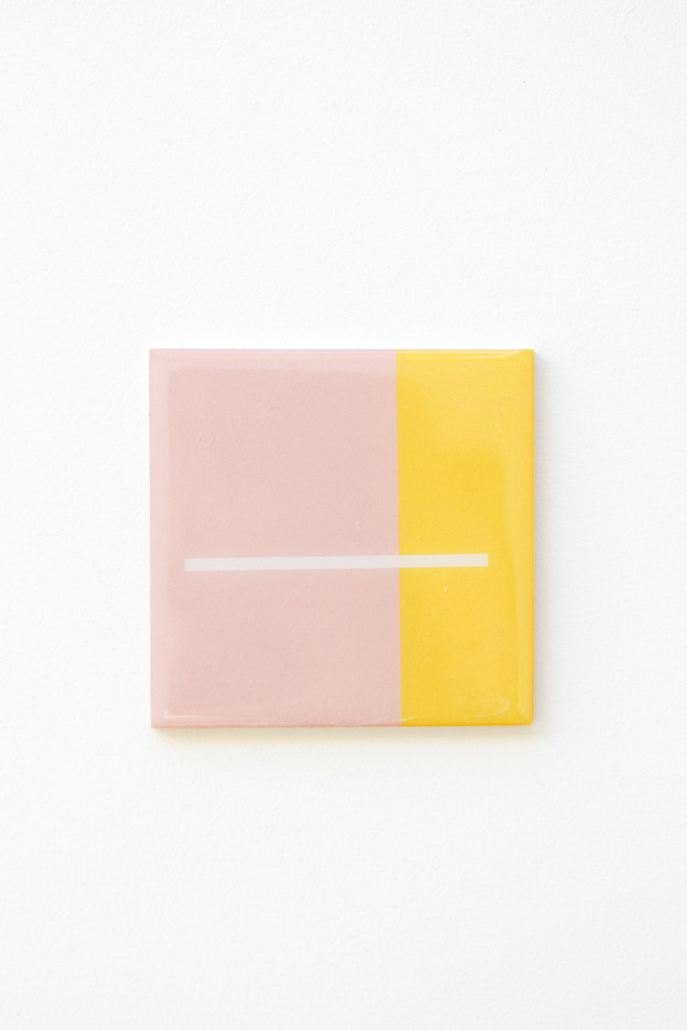 Geo Resin Coaster - Yellow