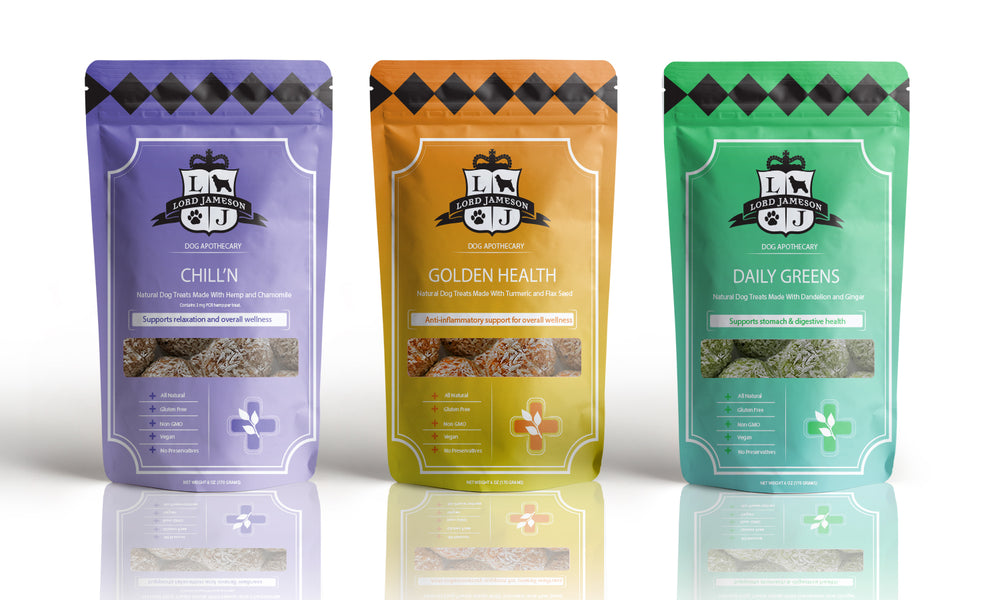 Lord Jameson Debuts First Functional Line of Soft Dog Treats, Named the Dog Apothecary Collection.
